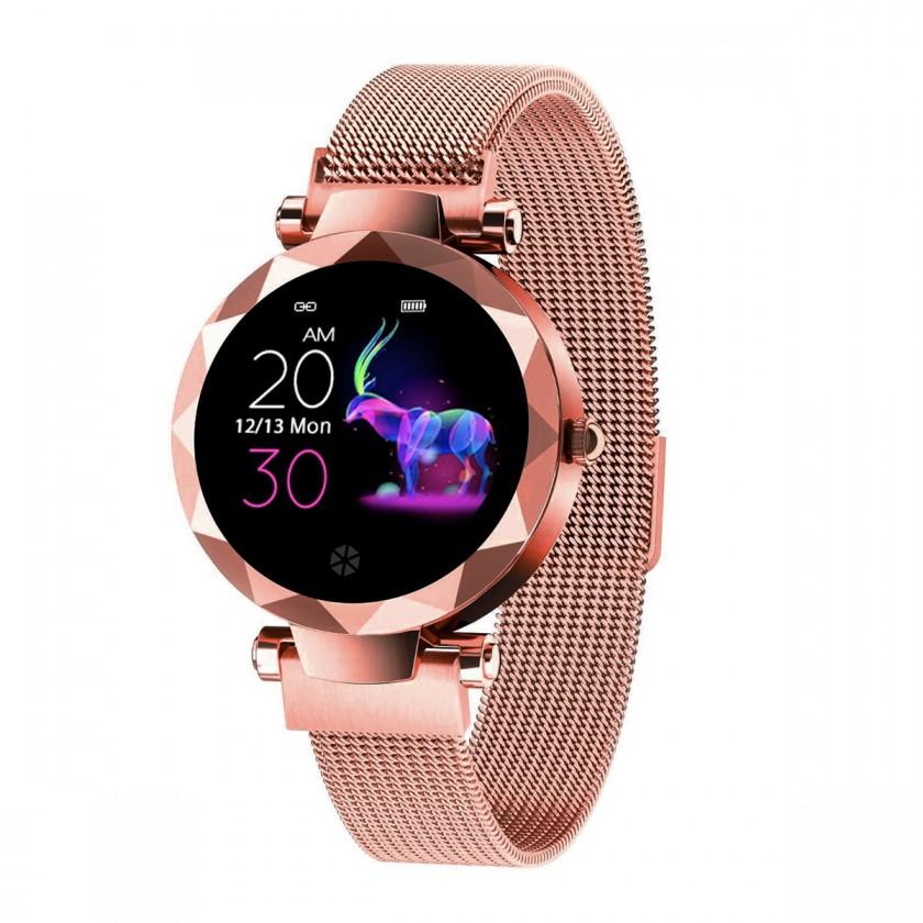 Dámske smart hodinky Dámske smart hodinky Immax SW12, magnetický remienok, ružová