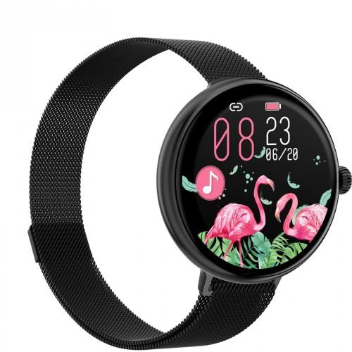 Dámske smart hodinky Immax Lady Music Fit, čierna