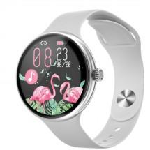 Dámske smart hodinky Immax Lady Music Fit, strieborná POUŽITÉ, NE