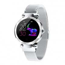 Dámske smart hodinky Immax SW12, magnetický remienok, strieborná