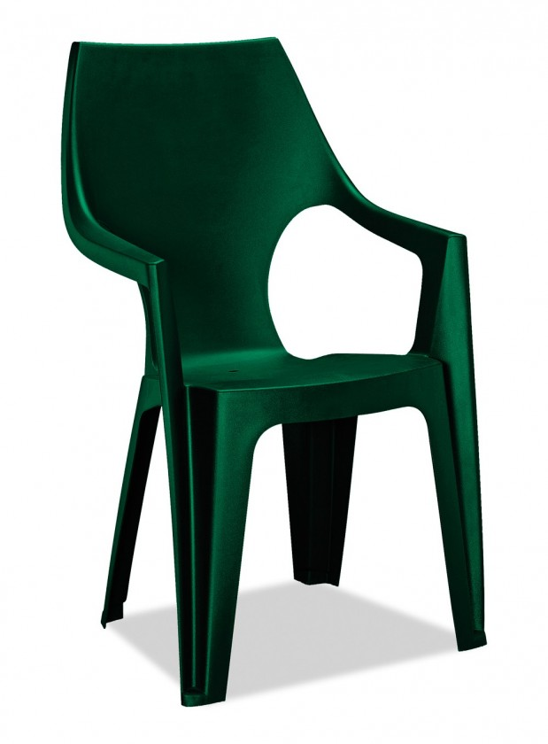 Dante - Stolička, highback (tmavo zelená)