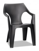 Dante - Stolička, lowback (čierna)