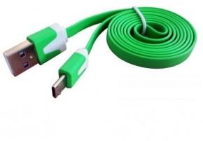Dátový kábel USB na Micro USB, zelená