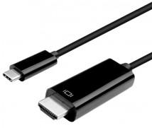 Dátový kábel Winner USB-C/HDMI, 3m, čierna
