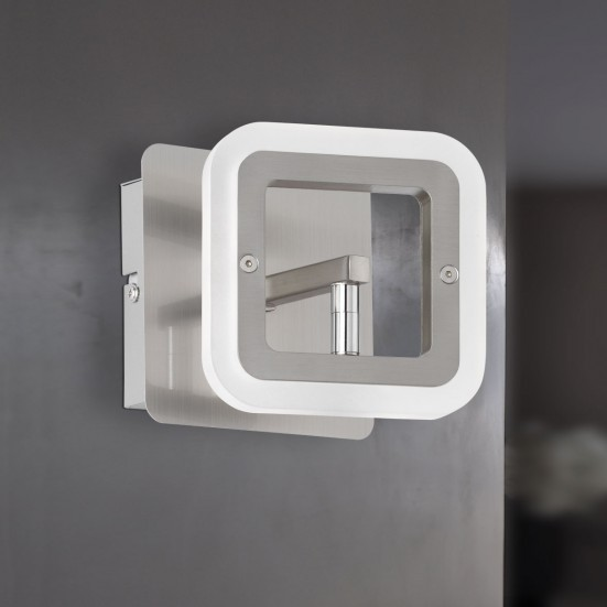 Davis - Nástenné osvetlenie, LED (matný nikel/chróm)