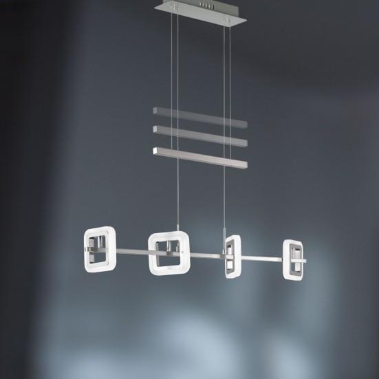 Davis - Stropné osvetlenie, LED (matný nikel/chróm)