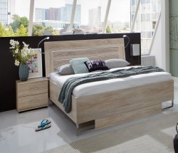 Davos - Komplet 5, posteľ 140 cm (dub)
