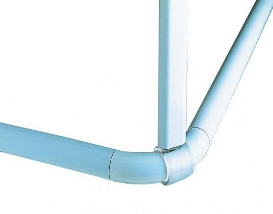 Decor-Tyč podporná white, 60 cm