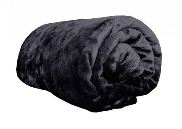 Deka z mikroflanelu, 150x200 (čierna)