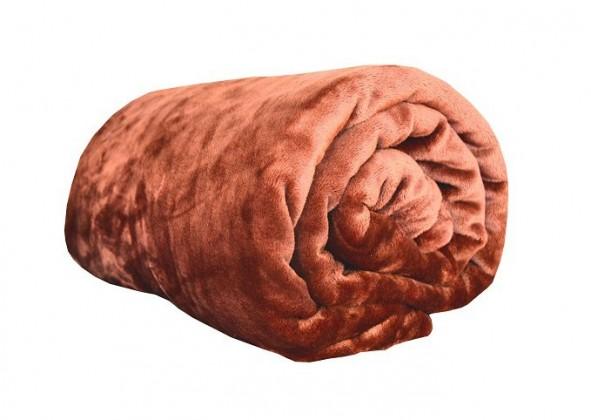 Deka z mikroflanelu, 150x200 (oranžovohnedá)
