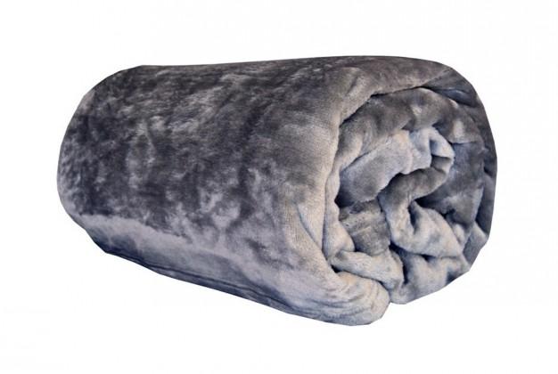 Deka z mikroflanelu, 150x200 (sivá)