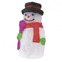Dekor.reťaz 30xLED,snehuliak, studená biela