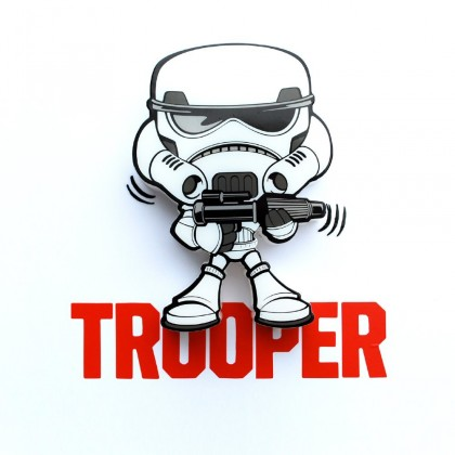 Dekoratívne osvetlen 3D LIGHT FX svetlo 3D Mini EP7 - Storm Trooper