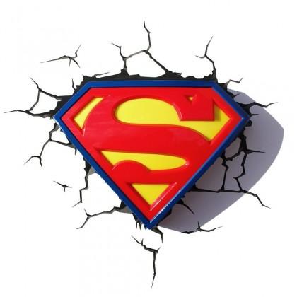 Dekoratívne osvetlen 3D LIGHT FX svetlo 3D Superman Logo
