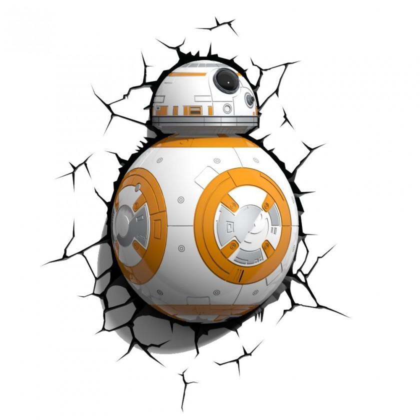 Dekoratívne osvetlen 3D LIGHT FX svetlo EP7 - Star Wars BB-8
