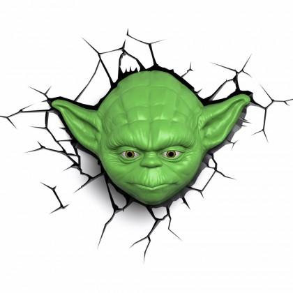 Dekoratívne osvetlen 3D LIGHT FX svetlo EP7 - Star Wars Yodova hlava