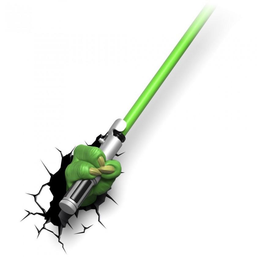 Dekoratívne osvetlen 3D LIGHT FX svetlo EP7 - Star Wars Yodův svetelný meč
