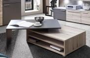 Delite - Konferenční stolík, DLTT30-J72 (dub pieskový/sivá mat)