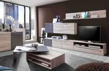 Delite - Obývacia stena, DLTM02-J72 (dub pieskový/sivá mat)