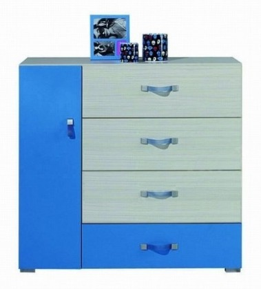 Detská komoda Komi KM 8 (Modrá)