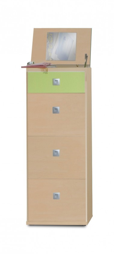 Detská komoda Sunny - Komoda, 46 cm (zelené jablko/alpská biela)