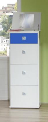 Detská komoda Sunny - Komoda (alpská biela s modrou, 46x121x40 cm)