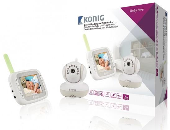 Detská opatrovateľka KÖNIG Digitální dětská a kojenecká videochůvička,KN-BM80