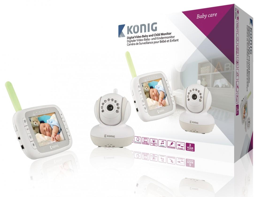 Detská opatrovateľka KÖNIG Digitální dětská a kojenecká videochůvička, KN-BM80 ROZBALE