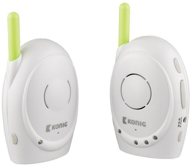 Detská opatrovateľka KÖNIG Digitální dětská audiochůvička, 2,4 GHz  - KN-BM10 ROZBALEN