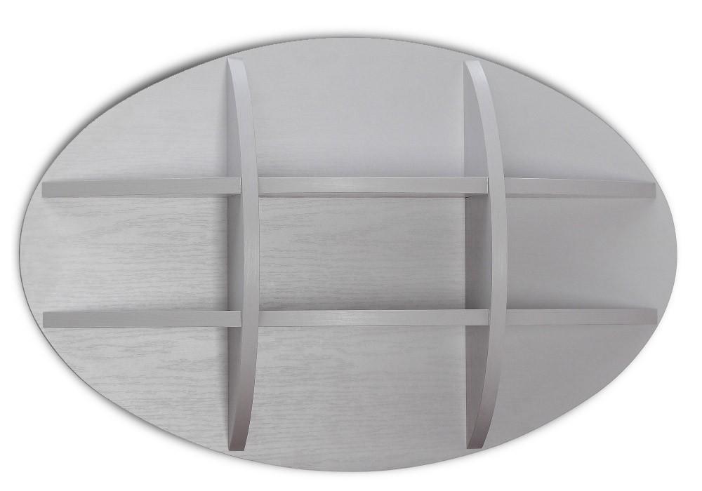 Detská police Dreamliner - Polička (dub sivý/biela vysoký lesk)