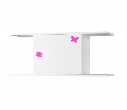 Detská police Simba 14(korpus biela/front biela a ružový motýlik)