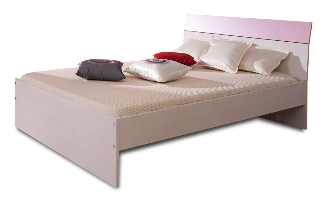 Detská posteľ Happy Typ 19 (woodline creme/světle fialová )