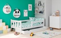 Detská posteľ Tommy 80x160, borovica biela, ÚP, bez matraca