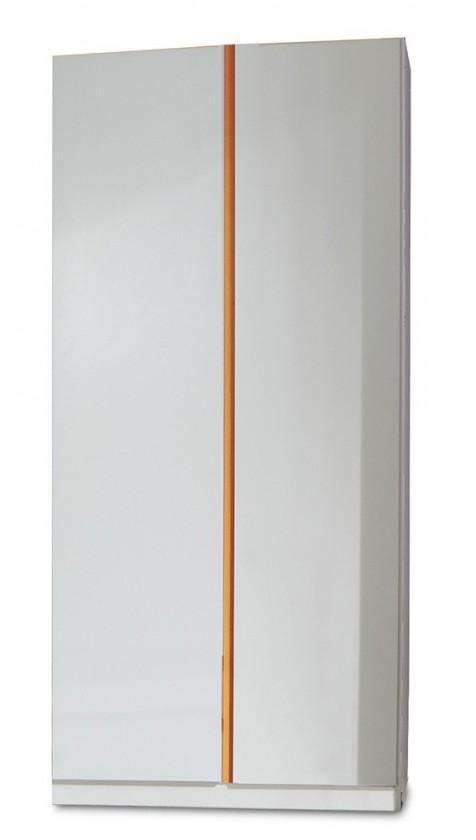 Detská skriňa Bibi - Skriňa, dvojdverová (alpská biela, oranžová)