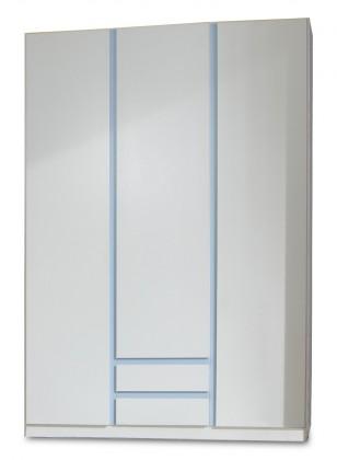 Detská skriňa Bibi - Skriňa, trojdverová, se zásuvkou (alpská biela, modrá)
