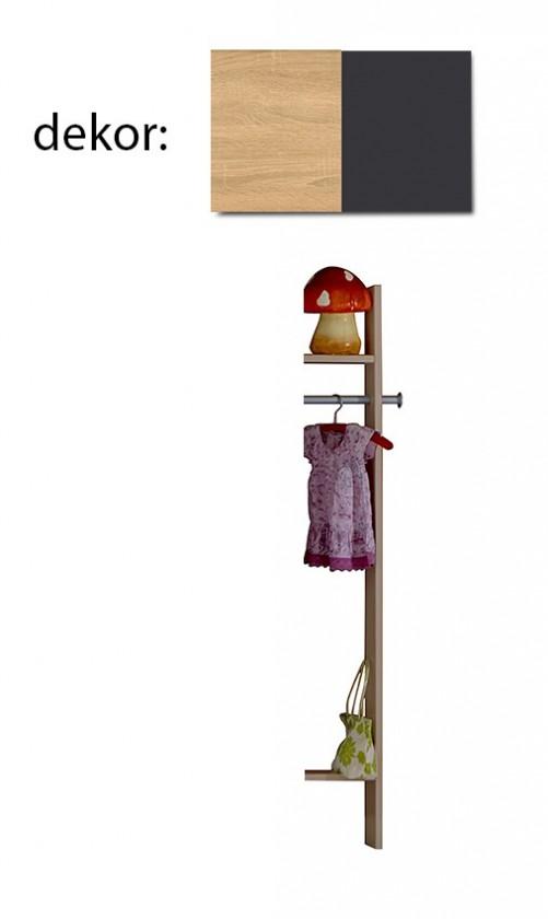 Detská skriňa Elisa 364882 (dub/lávová)