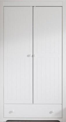 Detská skriňa Santorini - Šatníková skriňa so zásuvkou, typ 26 (biela arctic)