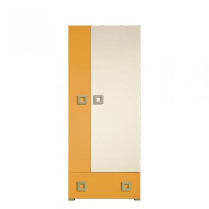 Detská skriňa Skriňa LABYRINT LA 1 (krémová/oranžová)