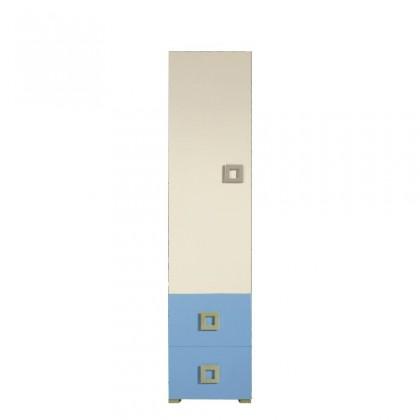 Detská skriňa Skriňa LABYRINT LA 3 L/P (krémová/modrá)