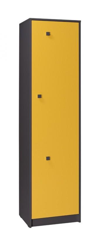 Detská skriňa Tommy 3 (sivá/žltá)