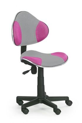 Detská stolička Flash 2- detská stolička (sivo-ružová)