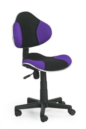 Detská stolička Flash - detská stolička (fialovo-čierna)