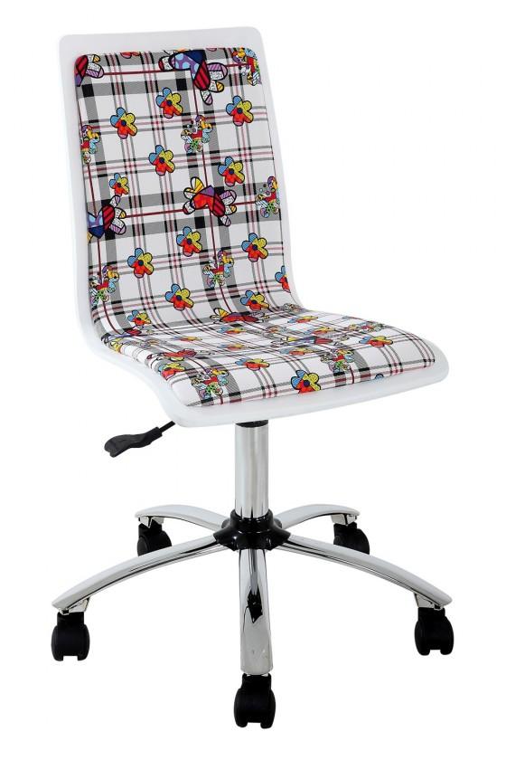 Detská stolička Fun 13 - detská stolička (biele kvety)