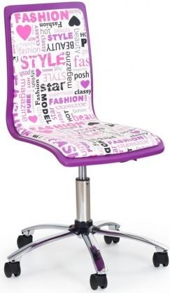 Detská stolička Fun-7 (fialová/ružová)