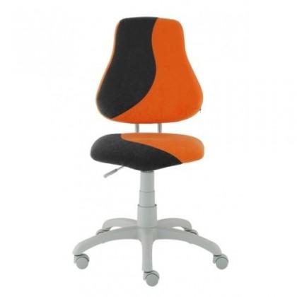 Detská stolička Neon (sivá/oranžová)