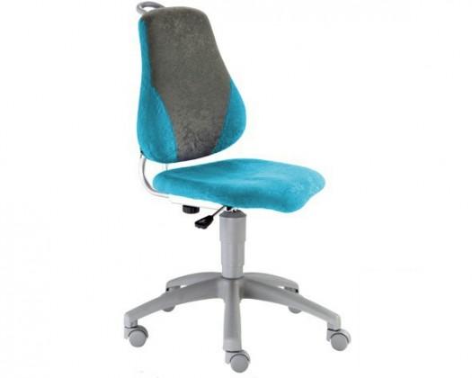Detská stolička Neon V-line (sivá / svetlo modrá)