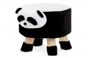 Detská taburetka Panda čierna, biela