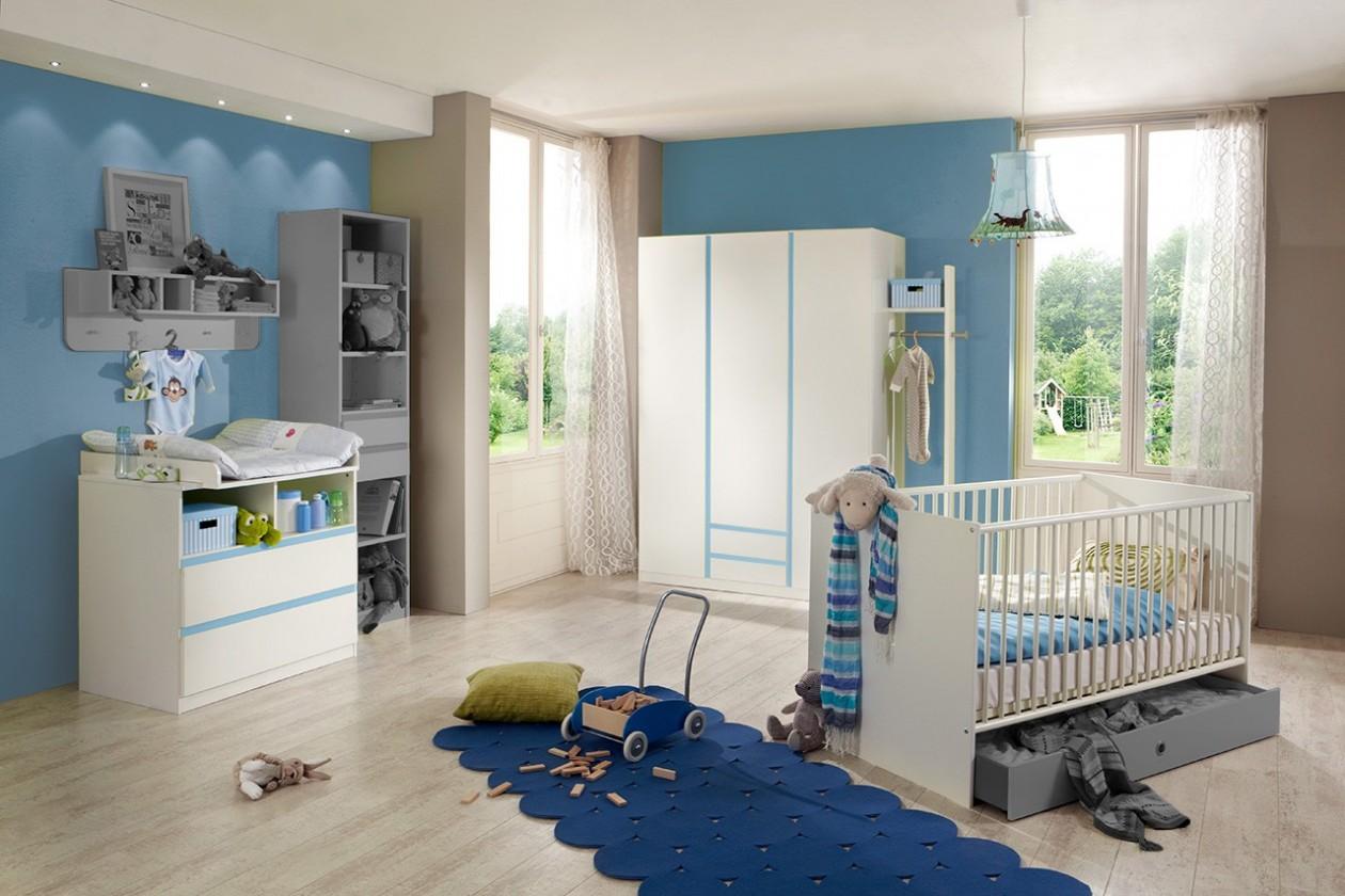 Detská zostava Bibi - Set 2 (alpská biela, modrá)