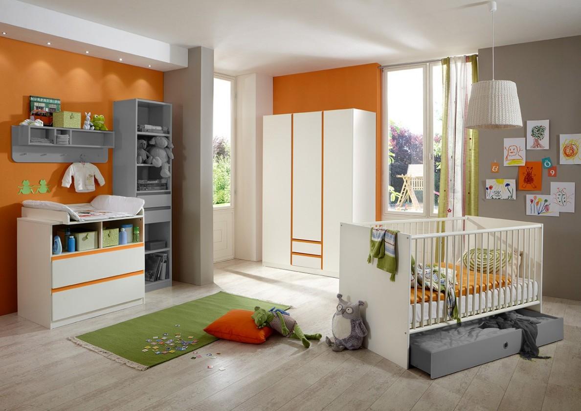 Detská zostava Bibi - Set 2 (alpská biela, oranžová)