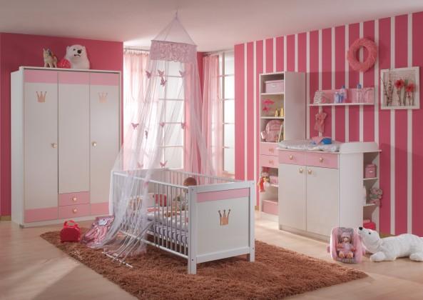 Detská zostava Cinderella - Set 4 (biela, růžová)